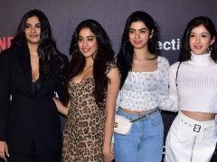 Janhvi, Khushi, Shanaya And Rhea Form Anil Kapoor's Cheer Squad