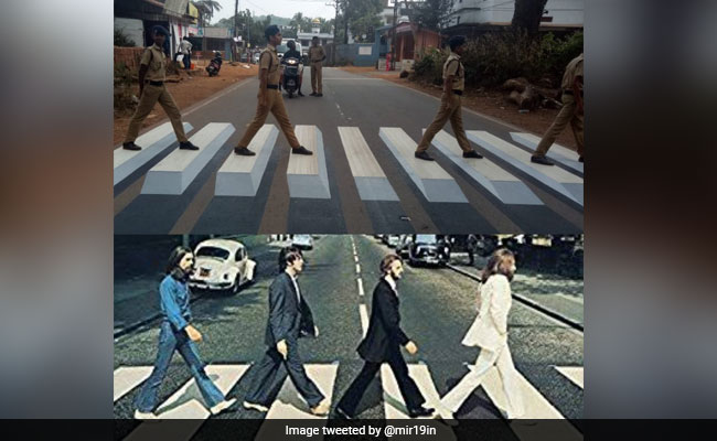 Kerala Cops Teach Road Safety By Recreating Iconic Beatles Cover