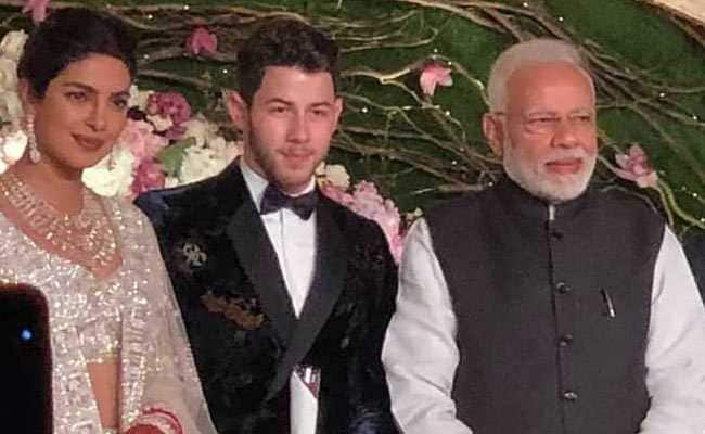 Pm Modi Attends Priyanka Nick Wedding Reception In Delhi