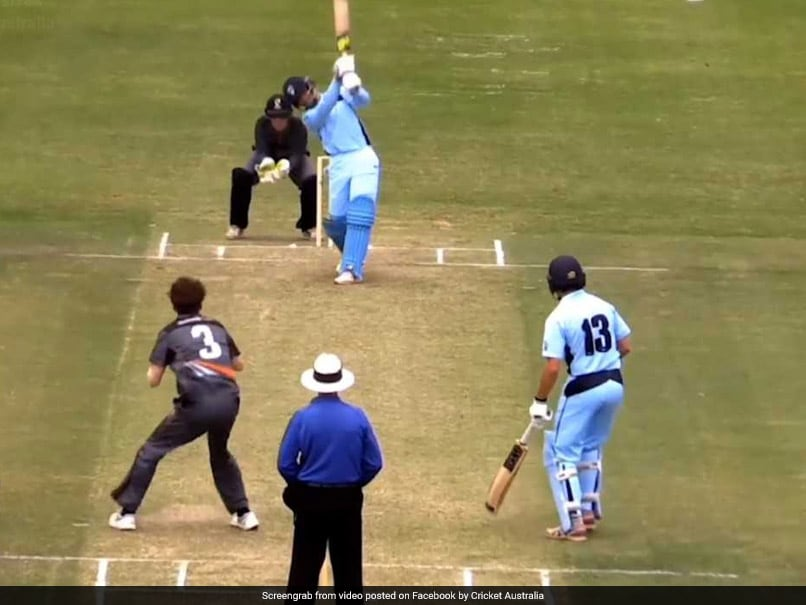 Young Aussie batsman hits six sixes in an over