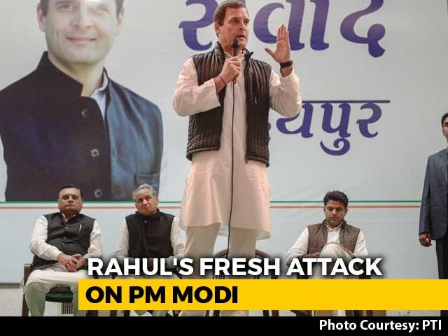 "Video : ""What Kind Of Hindu Is He?"" Rahul Gandhi Attacks PM Modi In Rajasthan"