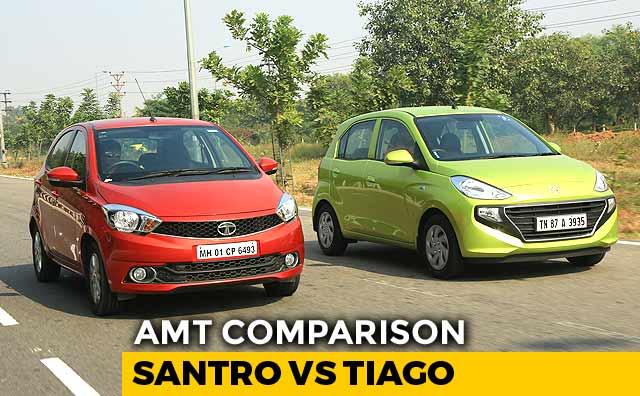 Video : Hyundai Santro AMT vs Tata Tiago AMT: Comparison Review