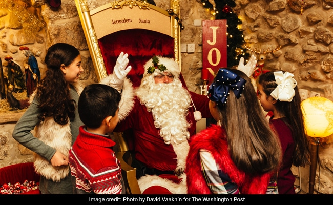 Meet Jerusalem's St. Nick, Who Went To Santa School And Rides A Camel