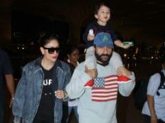 Ahead Of Taimur's Birthday, Kareena Kapoor And Saif Ali Khan Leave For South Africa. See Pics