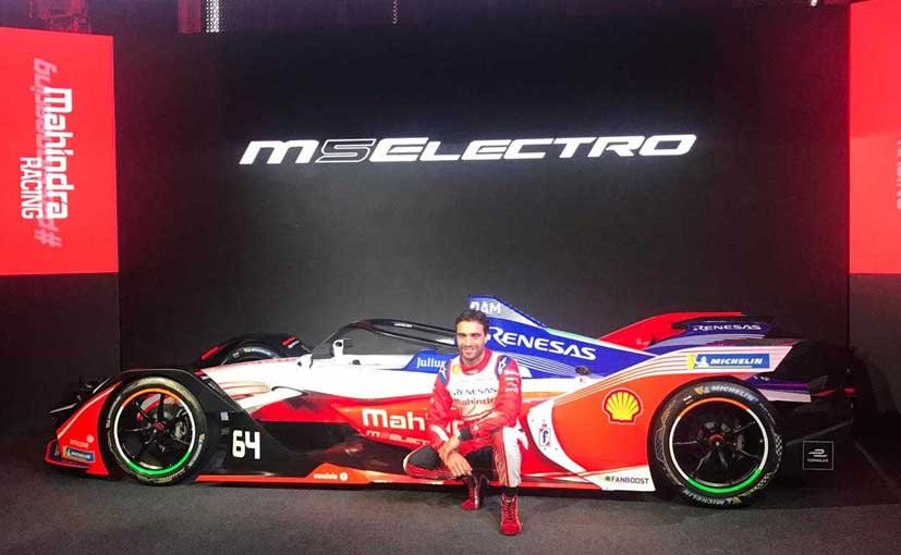 Jerome d'Ambrosio poses with the M5Electro which will be able to touch 100kmph in just 2.8 seconds