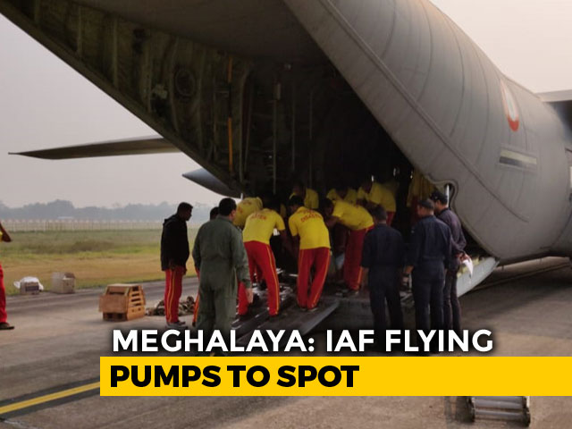 Video : Day 15 Of Meghalaya Miners' Rescue, Air Force Flies In Pumps