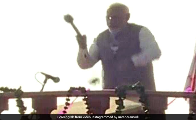 Watch: PM Modi Wraps Up Poll Campaign With Drum Beats, 'Sound Of Victory'
