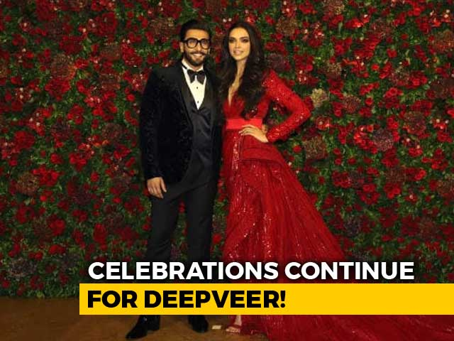 Deepika And Ranveer Make A Spectacular Entry At Mumbai Reception