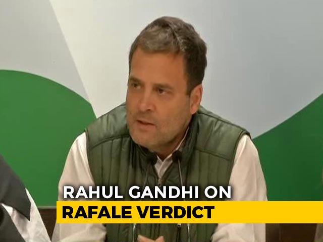 "Video : ""Why Did Anil Ambani Get Offset Clause?"" Asks Rahul Gandhi On Rafale"