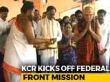 Video : KCR Kicks Off Federal Front Mission With A Visit To Vizag Temple