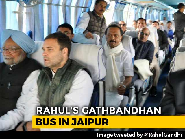 Video : Rahul Gandhi, Opposition Leaders On <i>'Gathbandhan Travels'</i> For Oath Events