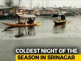 Video : Srinagar Records Coldest Night In 11 Years, Dal Lake Freezes Partially