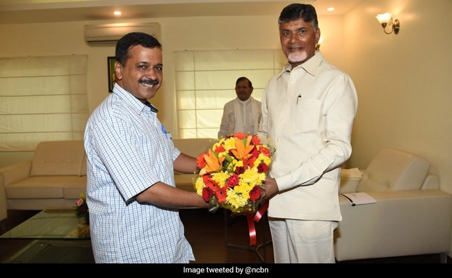 Days After Opposition Rally, Arvind Kejriwal Meets Chandrababu Naidu