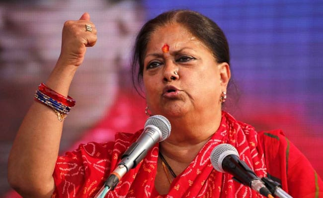 Lok Sabha Elections 2019: Congress Couldn't Remove Poverty, Now Talking About ''Nyay'': Vasundhara Raje
