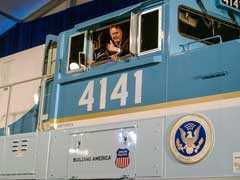 13 Years Ago HW Bush Drove This Locomotive. Today, It's His Last Ride