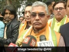 BJP, Trinamool Workers Clash, Show Black Flags To Dilip Ghosh In Bengal
