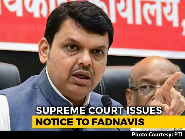 Video : Devendra Fadnavis Gets Top Court Notice For Not Declaring Criminal Cases