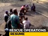 "Video : Boats, Cranes To Search For 13 Trapped In ""Rat Hole"" Mine In Meghalaya"