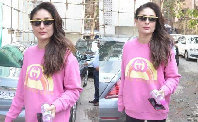 Look Pretty In Pink Like Kareena Kapoor In Trendy Sweatshirts