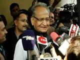 "Video : Ashok Gehlot Says ""Only Congress Will Form Government In Rajasthan"""