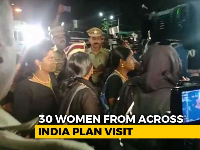 Video : 11 Women Wait At Sabarimala Base Camp Amid Protests, More Arriving