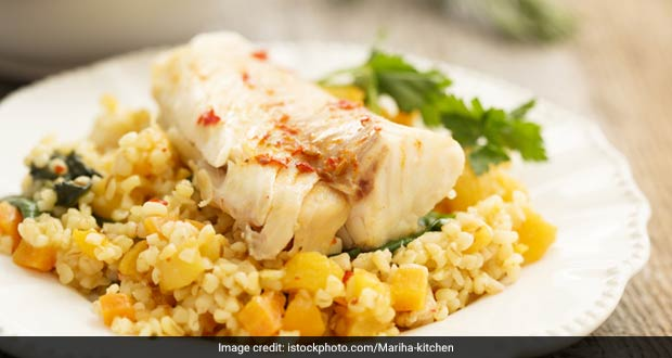 Barley Risotto with Marinated Chicken