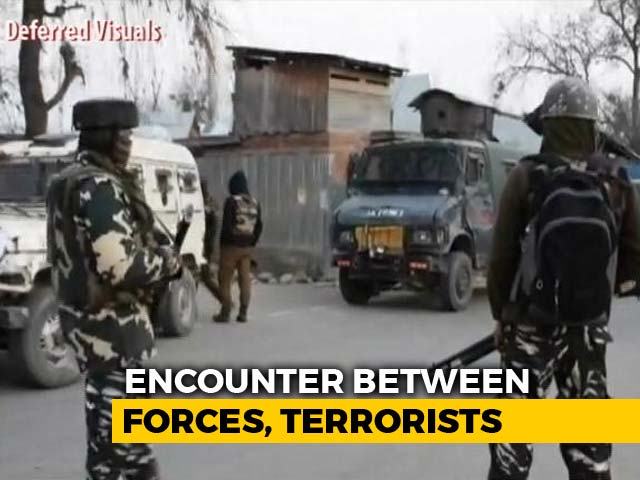 Video : 4 Terrorists Shot Dead In Encounter With Security Forces In J&K's Pulwama