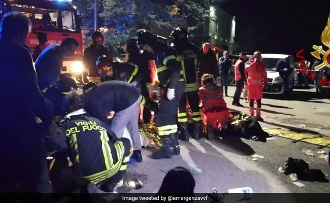 Six people killed in Italian nightclub stampede