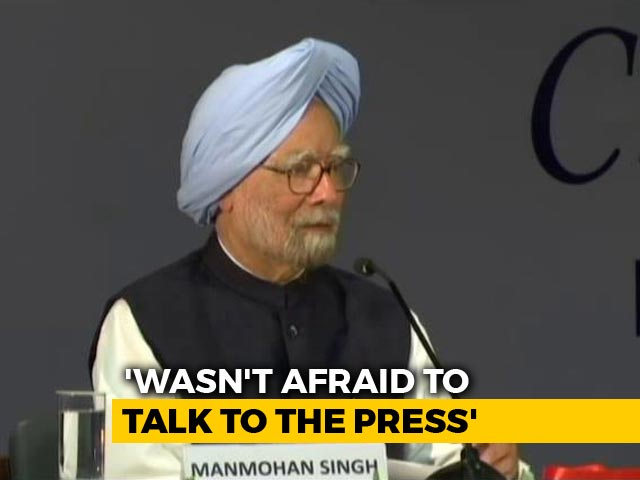 Video : I Wasn't Afraid Of Talking To Press: Manmohan Singh's Jibe At PM Modi