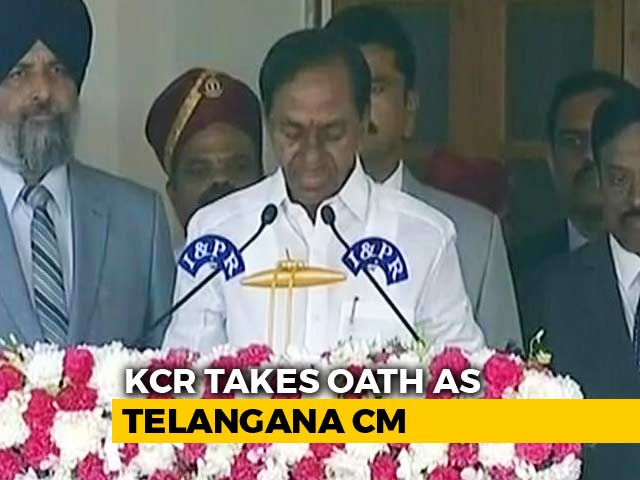 Video : KCR Takes Oath As Telangana Chief Minister For Second Time