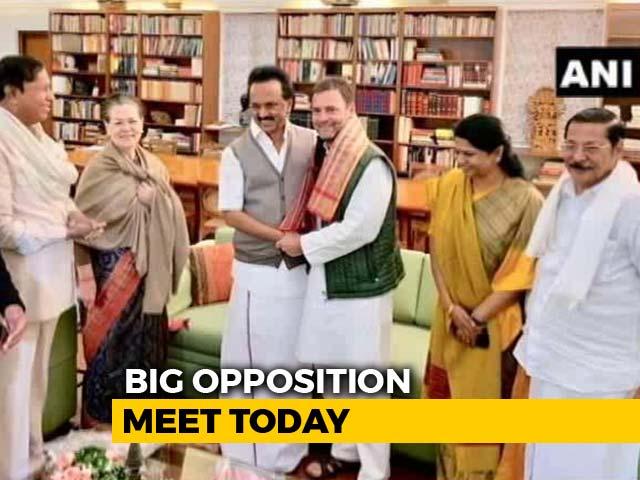 Video : Rahul Gandhi, Arvind Kejriwal, Mamata Banerjee At Opposition Meet Today