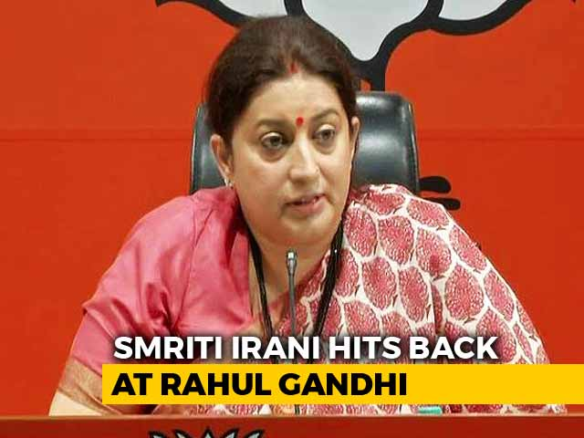 """Video : """"For Attention Only"""": Smriti Irani Trashes Rahul Gandhi's """"Hindu"""" Remark"""