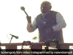 "Watch: PM Modi Wraps Up Poll Campaign With Drum Beats, ""Sound Of Victory"""