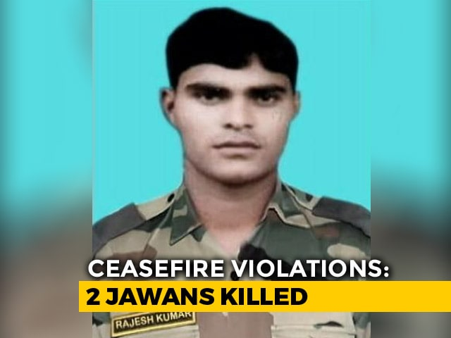 Video : Soldier, BSF Jawan Killed In Ceasefire Violation By Pakistan In J&K