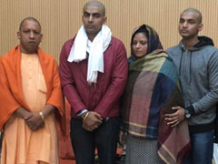 After Silence On UP Cop Killing By Mob, Yogi Adityanath Meets His Family