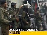 Video : 3 Terrorists Shot Dead, Soldier Injured In Encounter In Srinagar