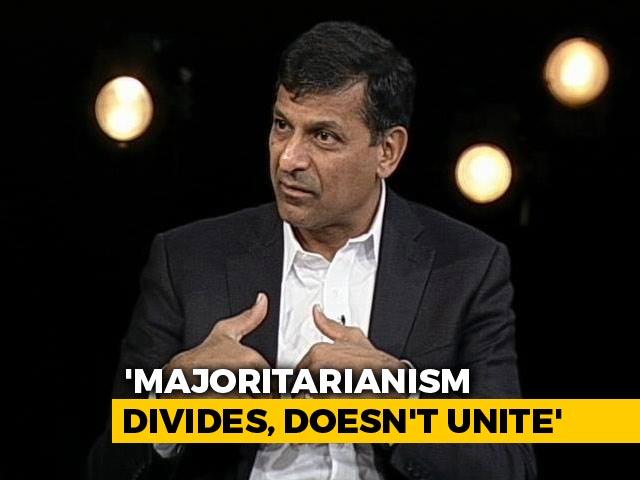 Video : Worry About Majoritarianism: Raghuram Rajan To NDTV