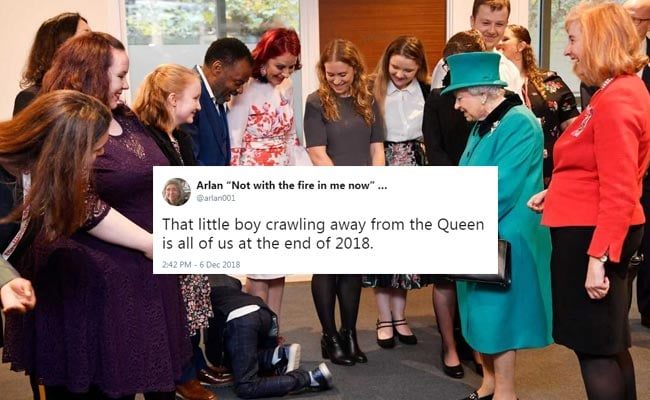 Boy, Overwhelmed At Meeting Queen Elizabeth, Crawls Away And Yells 'Bye'