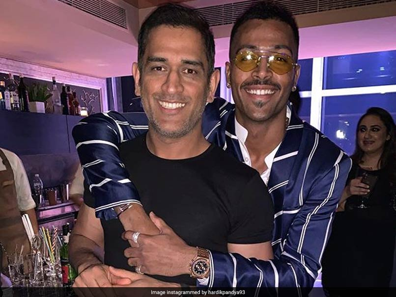 Watch: MS Dhoni Shares A Fun Moment With Hardik Pandya After Wife Sakshi Moves Out Of Frame