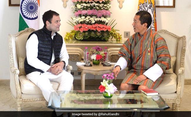 'Relationship That Endured Test Of Time': Rahul Gandhi Meets Bhutan's PM