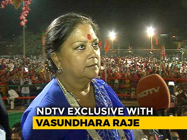 Video : No Regrets, Couldn't Have Done Anything Differently, Says Vasundhara Raje
