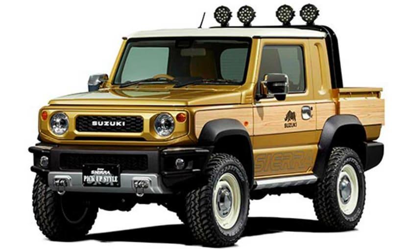 Suzuki Showcases Retro Themed Jimny Pickup With Woody Styling - NDTV