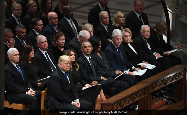 All The Presidents Recited A Core Prayer At Bush Funeral. Except Trump