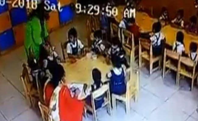 गुरुग्राम के स्कूल में मासूम बच्चों के मुंह पर टेप चिपकाकर किया टॉर्चर, देखें- VIDEO