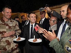 Emmanuel Macron Takes Champagne And Foie Gras To French Soldiers In Chad