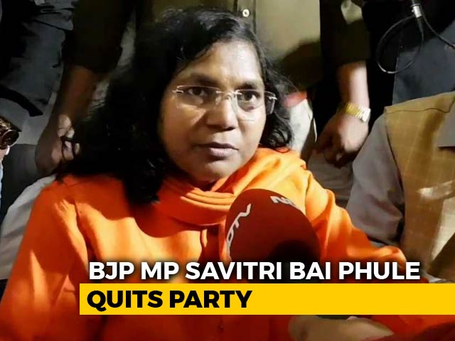 """Video : UP Lawmaker Savitri Bai Phule Quits BJP: """"Party Trying To Divide Society"""""""