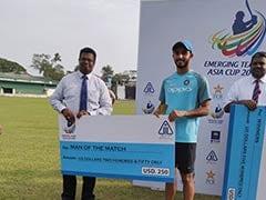 Emerging Team Asia Cup: पाकिस्तान को पटखनी देकर भारत फाइनल में पहुंचा, यह खिलाड़ी बन गया