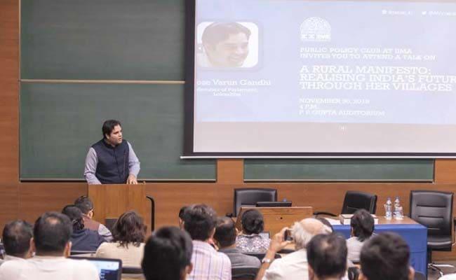 IIM Ahmedabad Hosts Varun Gandhi