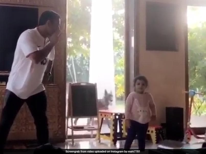 Watch: MS Dhoni Hones Dancing Skills With Help Of Daughter Ziva, Video Goes Viral
