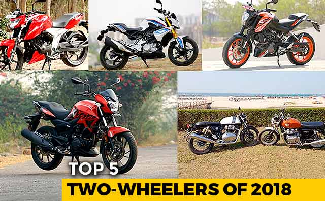 Video : Top 5 Two-Wheelers Of 2018